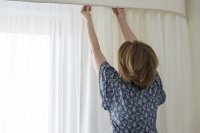 Washing curtains and other window treatments