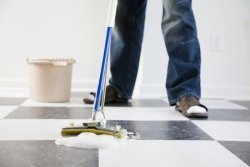 Shop cleaning kitchen floors