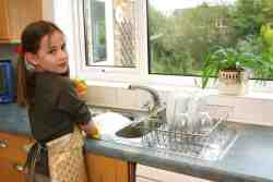 Assigning kids chores by age.