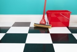 Tips for cleaning floors in the kitchen.