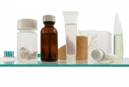 How to clean out a medicine cabinet.