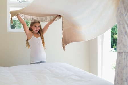 Bedroom cleaning with kids