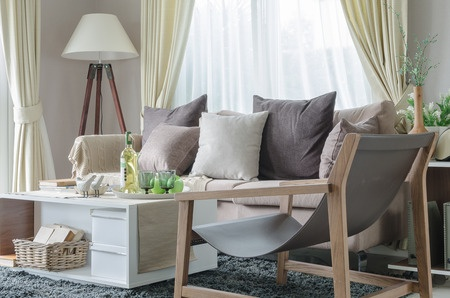 Living room organizing tips.