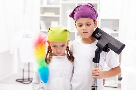 Kids cleaning - 5 truths and consequences.