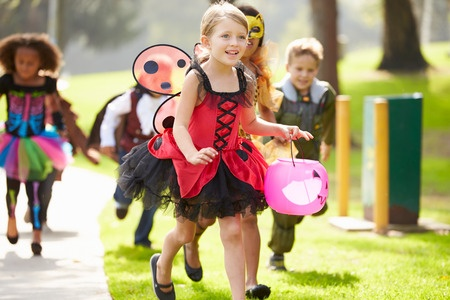 Trick-or-treating safety tips by age.