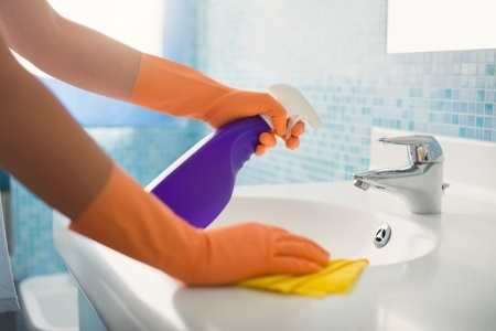 Bathroom cleaning tips.