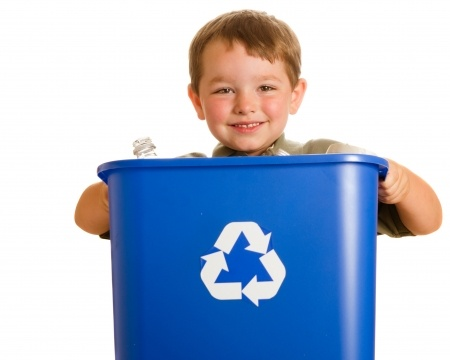 How to create a kitchen recycling center.