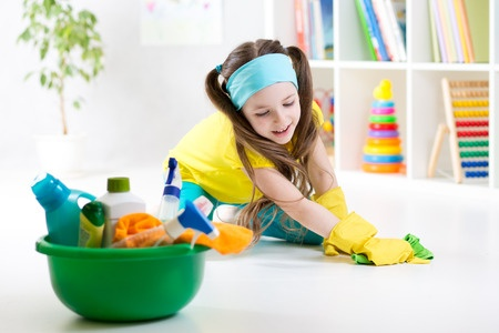 Monthly chores for kids by age.