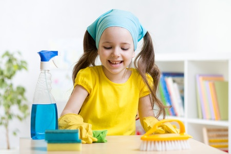 Home office cleaning chores for kids by age
