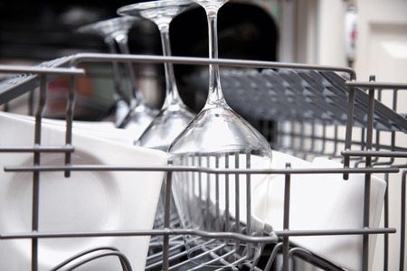 Clean holiday crystal in the dishwasher to get it ready for holiday entertaining.