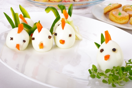 Provide kid-friendly foods at family parties to keep little ones happily occupied.