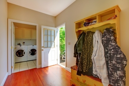 Entryway organizing is essential if you want to make quick school morning departures a snap.