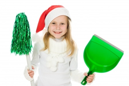 Holiday housecleaning tips for the family.