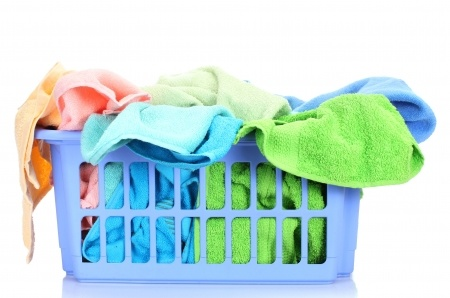 Laundry tips for stains and clothes care.