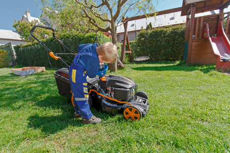 How to safely enlist the kids' help with yard work.
