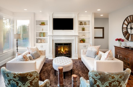 Living area organizing tips for families.