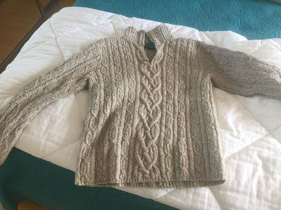 My son's sweater after he dried it in the dryer.