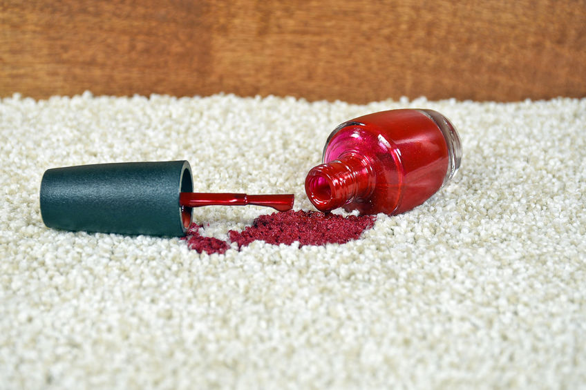 How to remove nail polish stains on carpet and upholstery