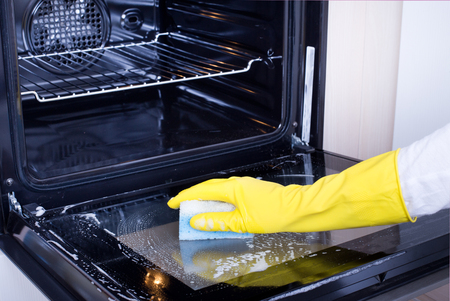 Oven cleaning tips for removing bake-on messes.