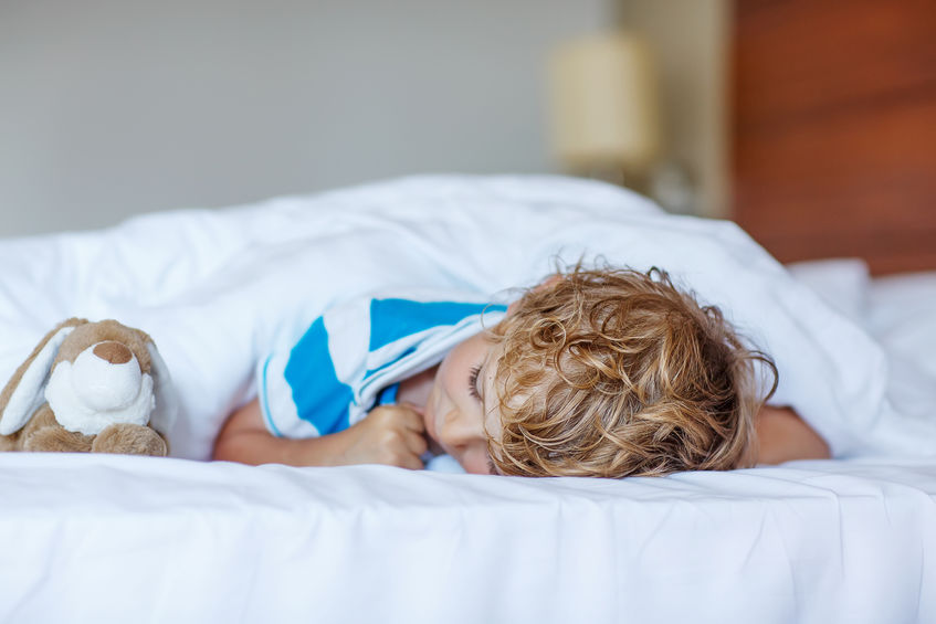 Bedroom ideas for  preschoolers: ditch the top sheet and use only a fitted sheet topped with a comforter.