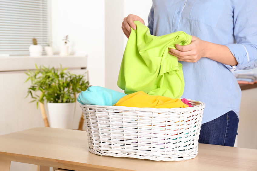 How to sort clothes for washing.