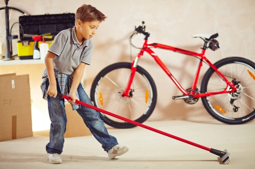 Garage Cleaning With Kids